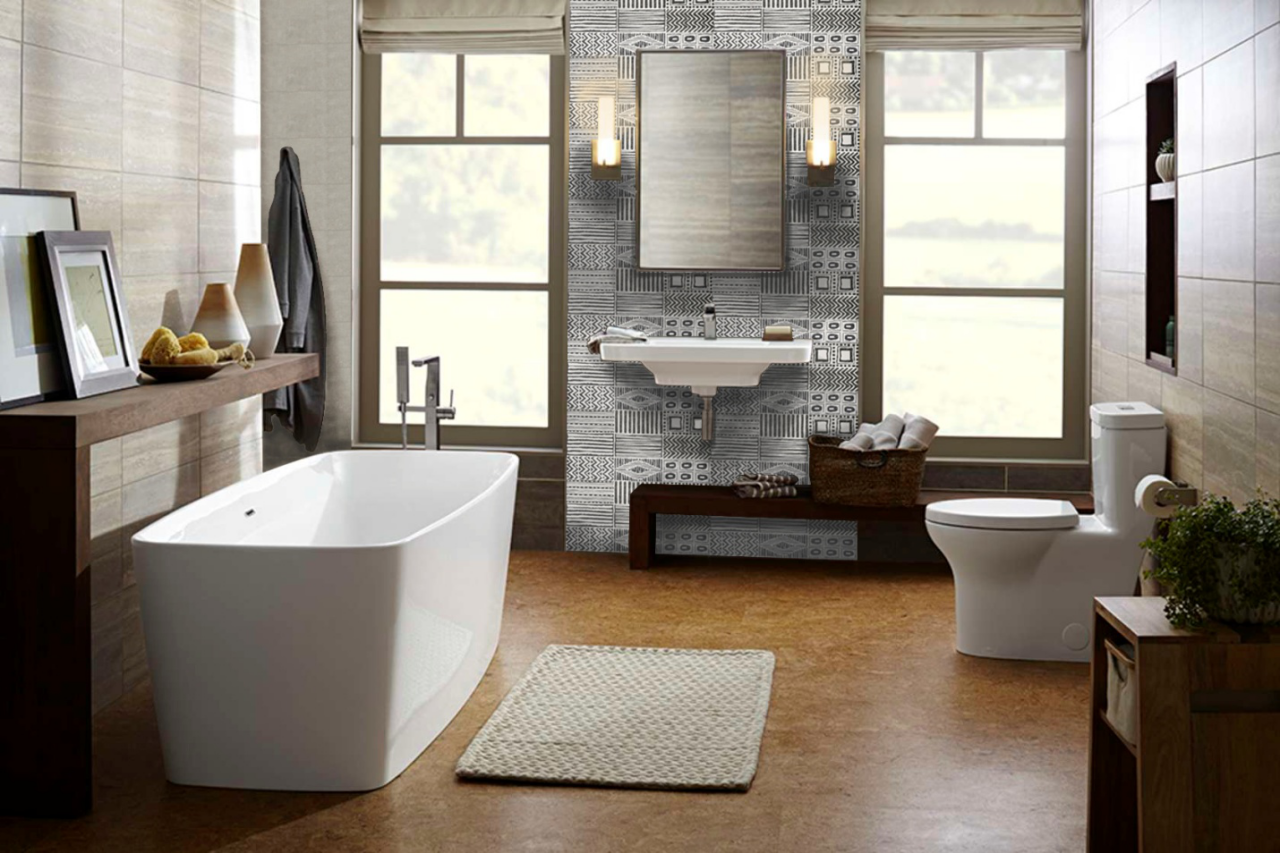Modern Bathroom Wall Tile | Ceramic Fashion Studio